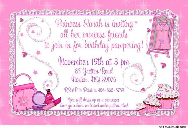 Princess Dress Invitation
