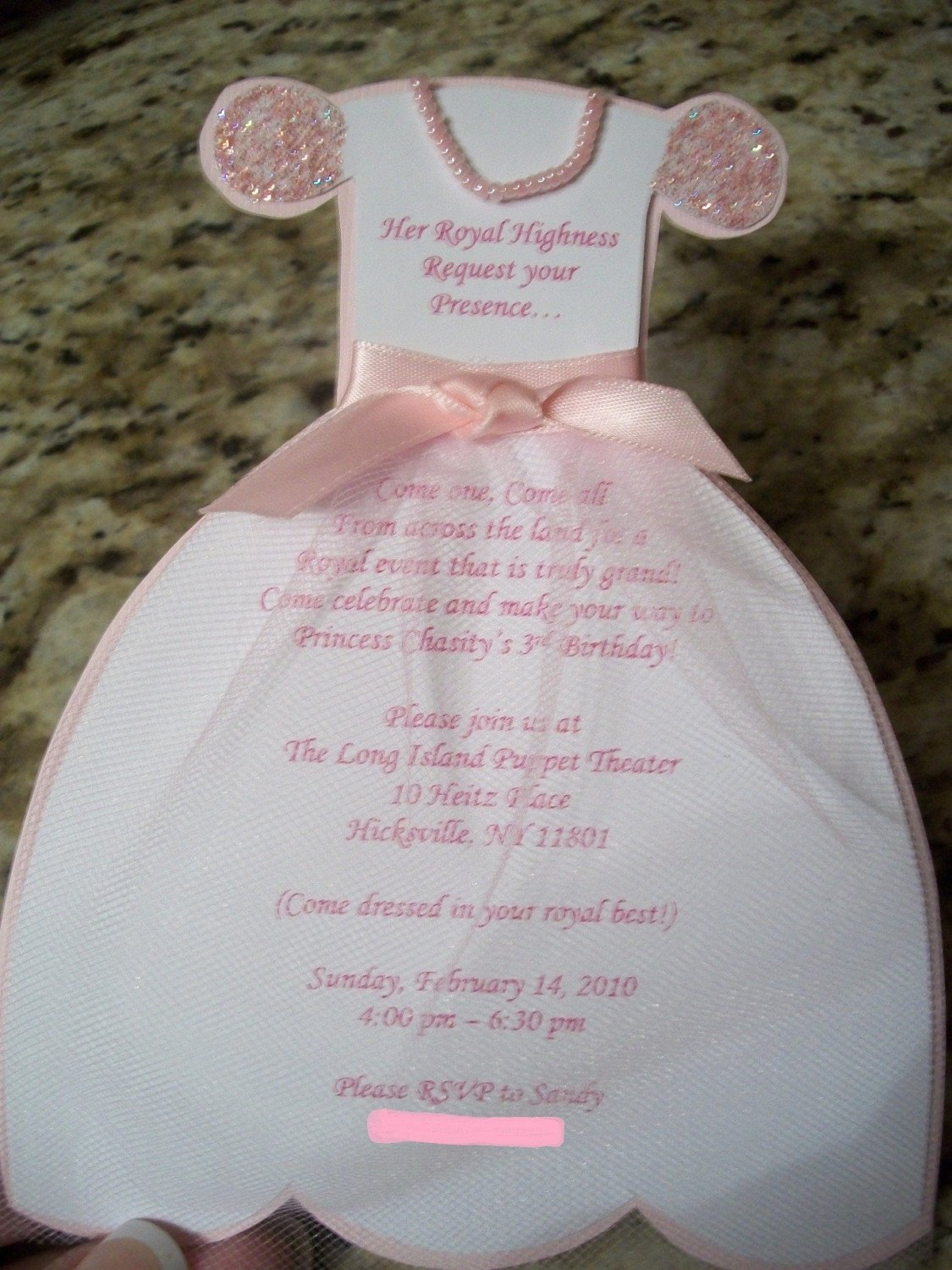 princess dress invitation templates