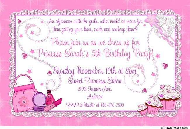 Princess Party Invitation Wording Dress Up