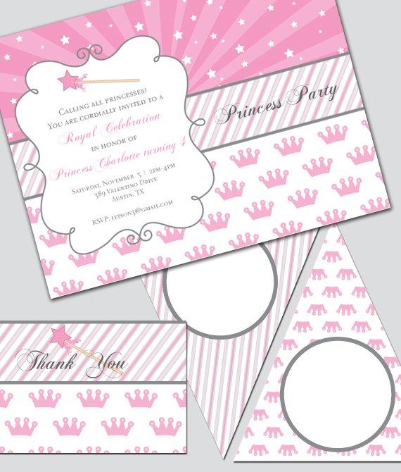 Princess Party Invitations Free Printable