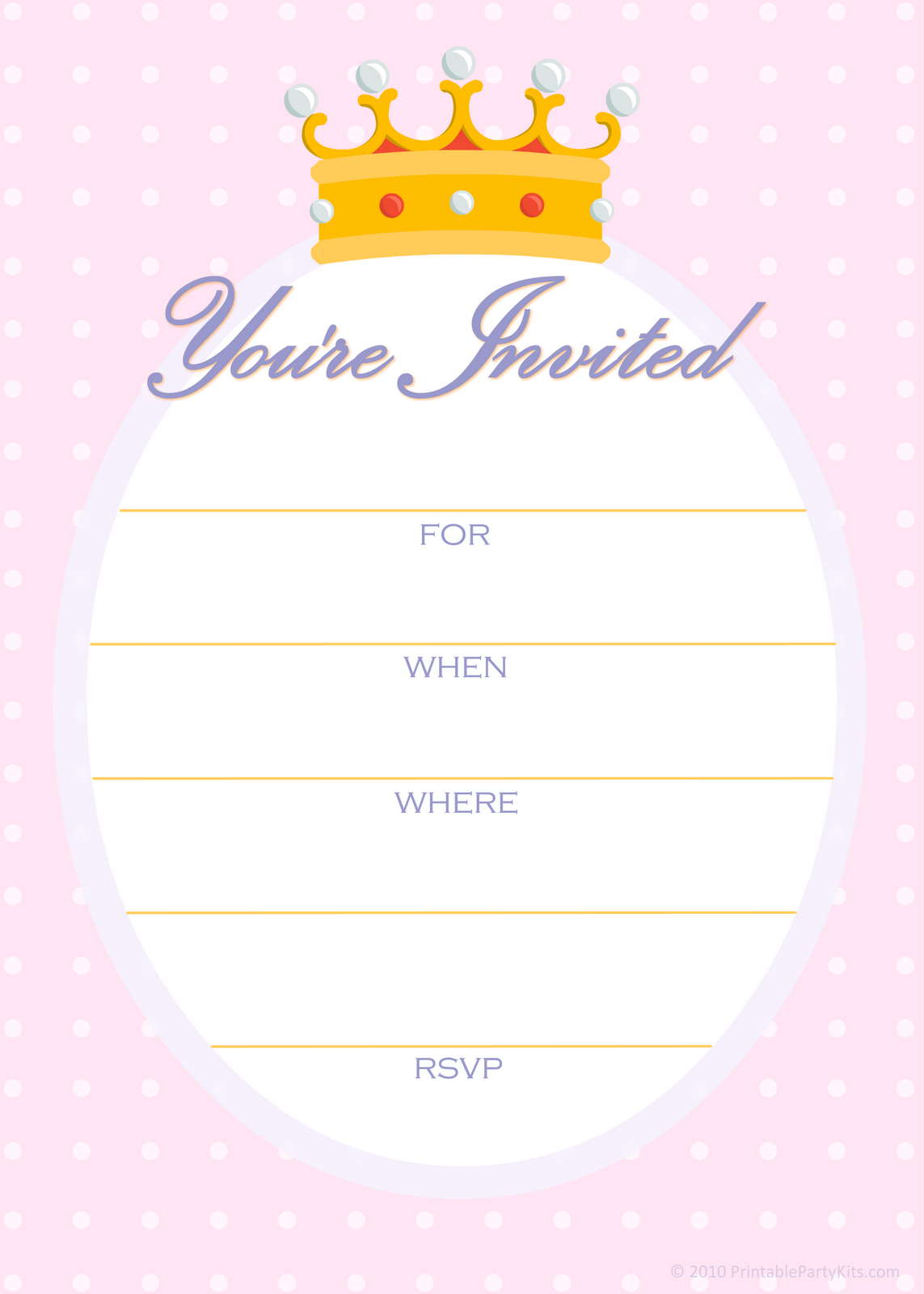 Princess Party Invitations Wording