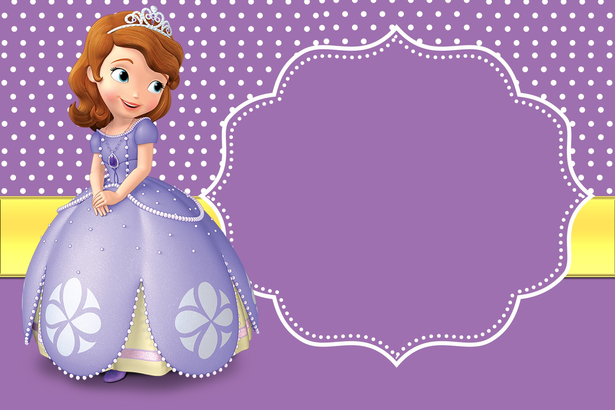 Princess Sofia Birthday Invitation Template Free