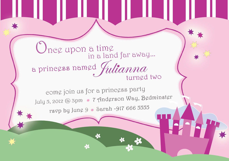 Princess Tea Party Invitations Free Printable