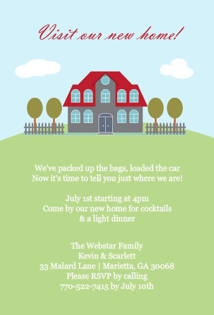 Print Out For House Warming Invitations