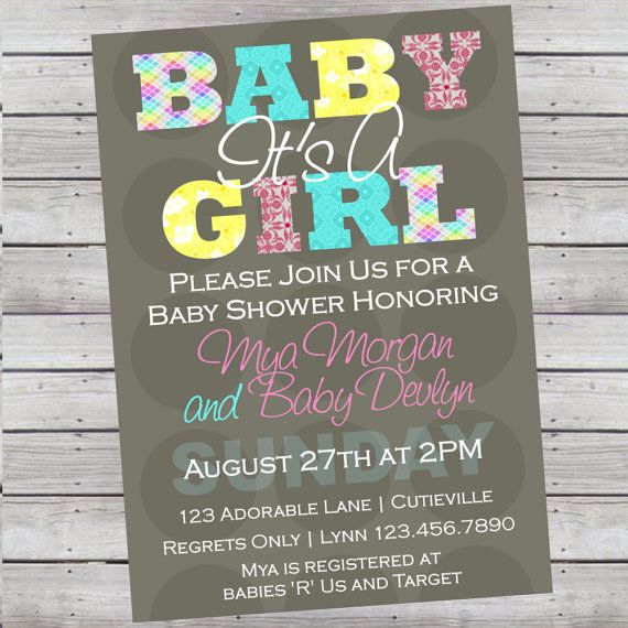Print Own Invitations Baby Shower