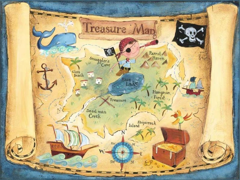Print Pirate Treasure Map