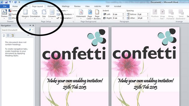 Print Your Own Wedding Invitations Free