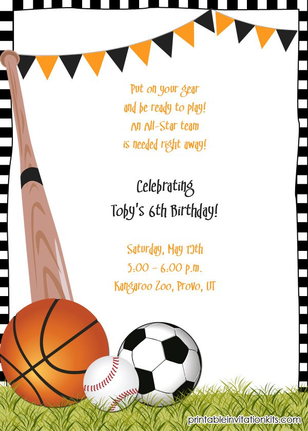Printable Birthday Invitation Kits