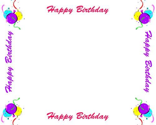 Printable Borders For Birthday Invitations