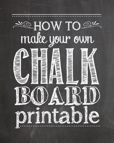 Printable Chalkboard Graduation Keepsakes