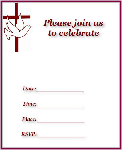 Printable Church Invitation Cards