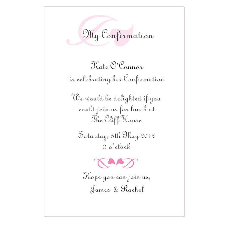 Printable Confirmation Invitation Templates