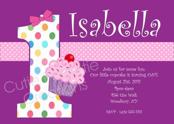 Printable Cupcake Birthday Party Invitations