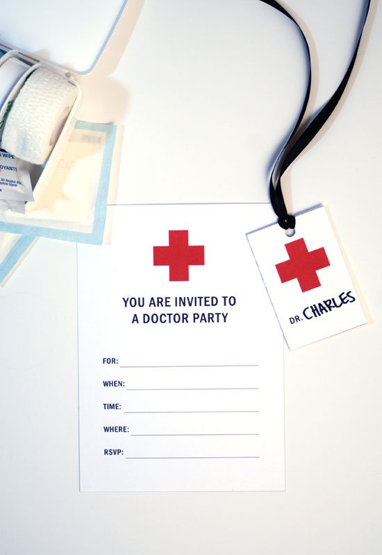 Printable Doctor Who Birthday Party Invitations