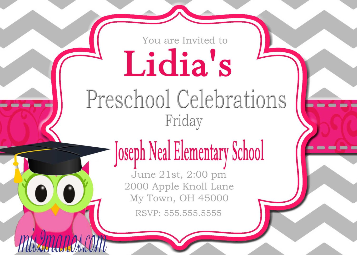 Printable Graduation Invitations For Preschool