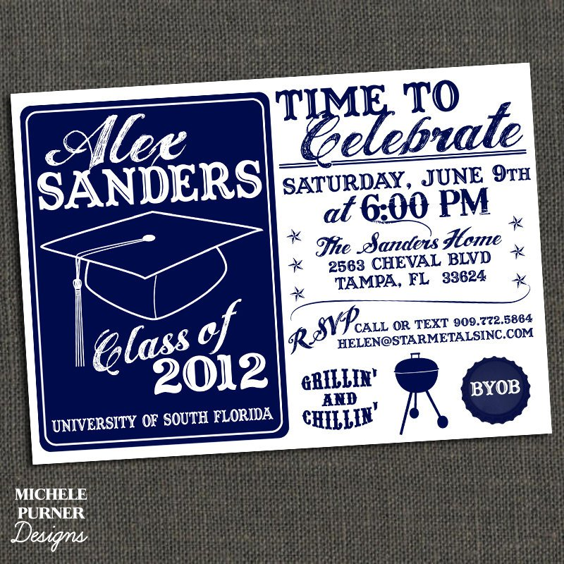 Printable High School Graduation Party Invitations