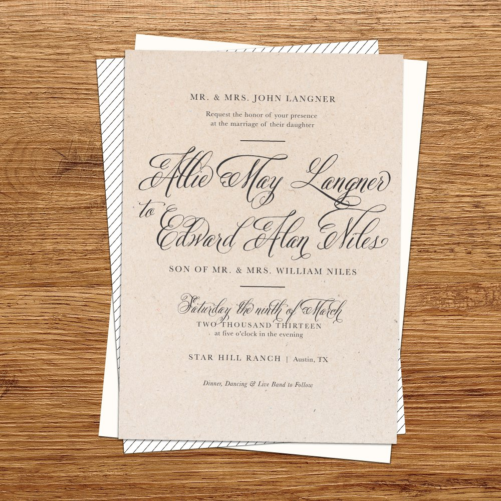 Printable Holiday Invitation Paper