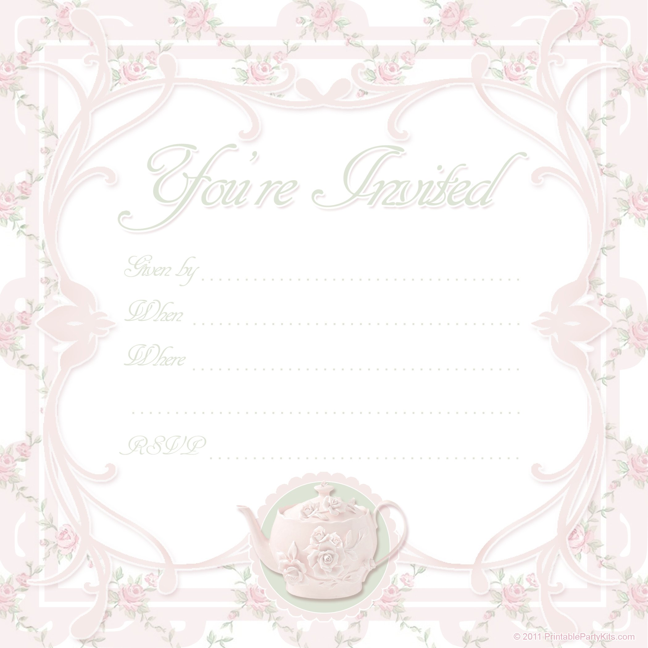 Printable Invitations For All Occasions