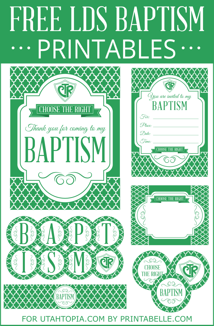 Printable Lds Baptism Invitations Free