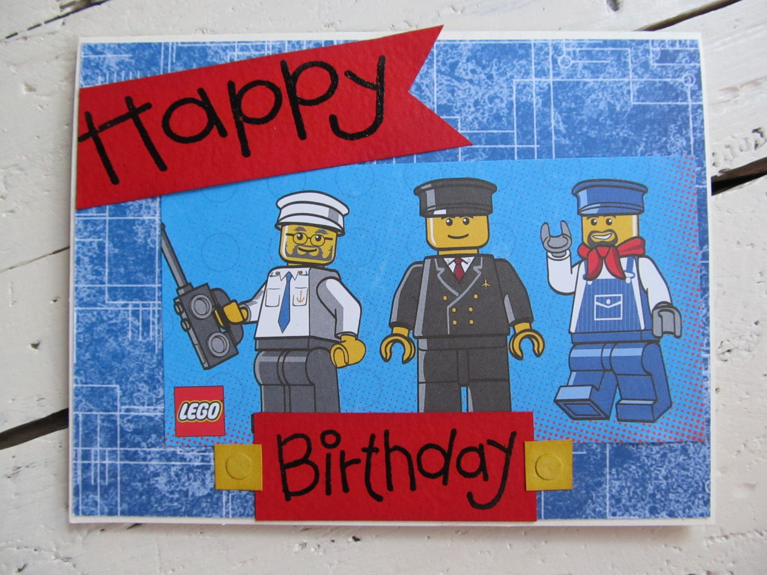 Printable Lego Happy Birthday Card
