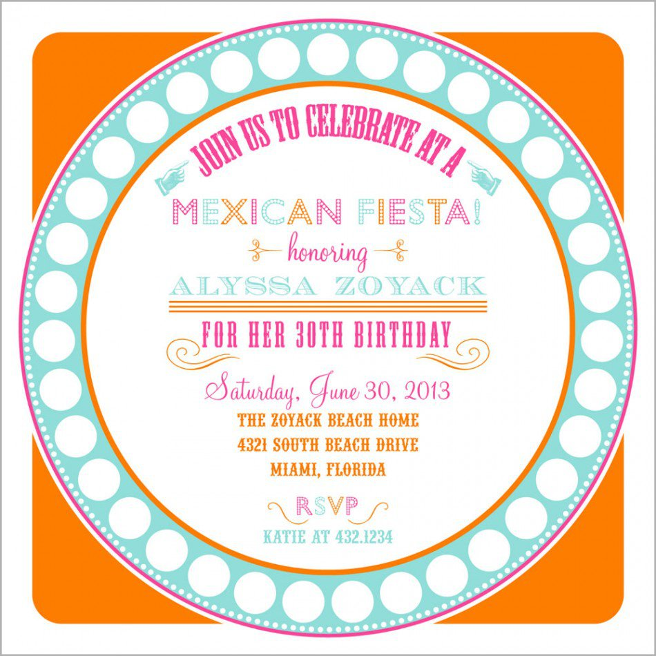 Printable Mexican Party Invitations