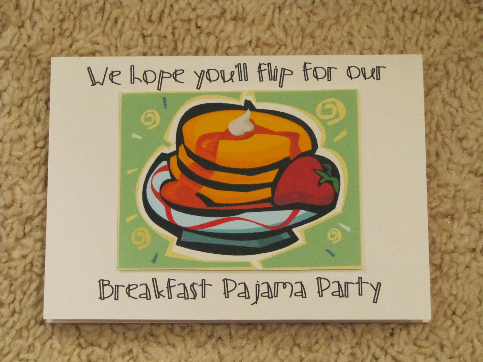 Printable Polar Express Pajama Party Invitation
