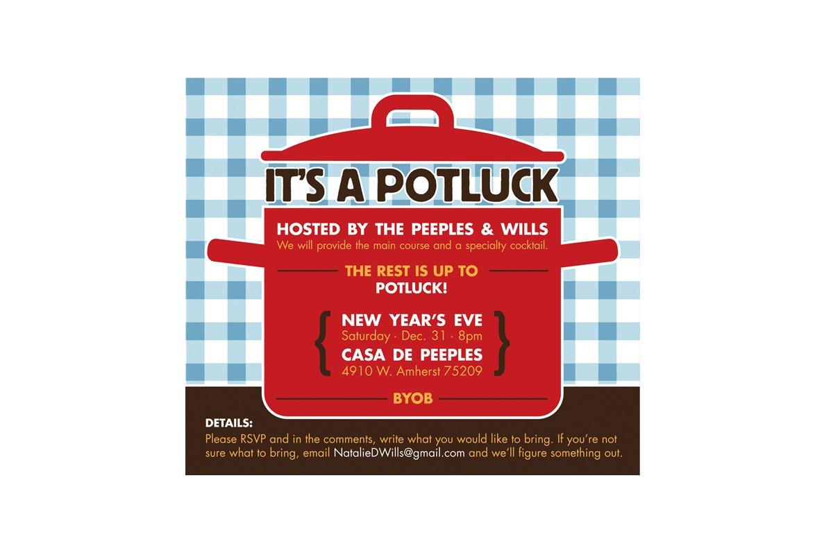 Printable Potluck Invitations