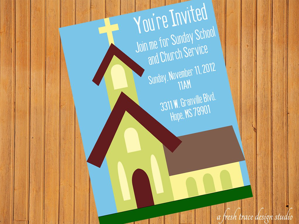 Printable Sunday School Invitations