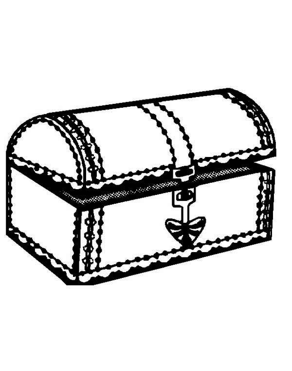 Printable Treasure Chest Coloring Page