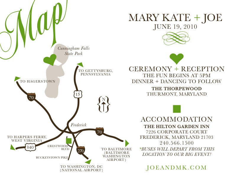 Printable Wedding Invitation Maps