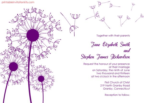 Printable Wedding Invitations Free Online