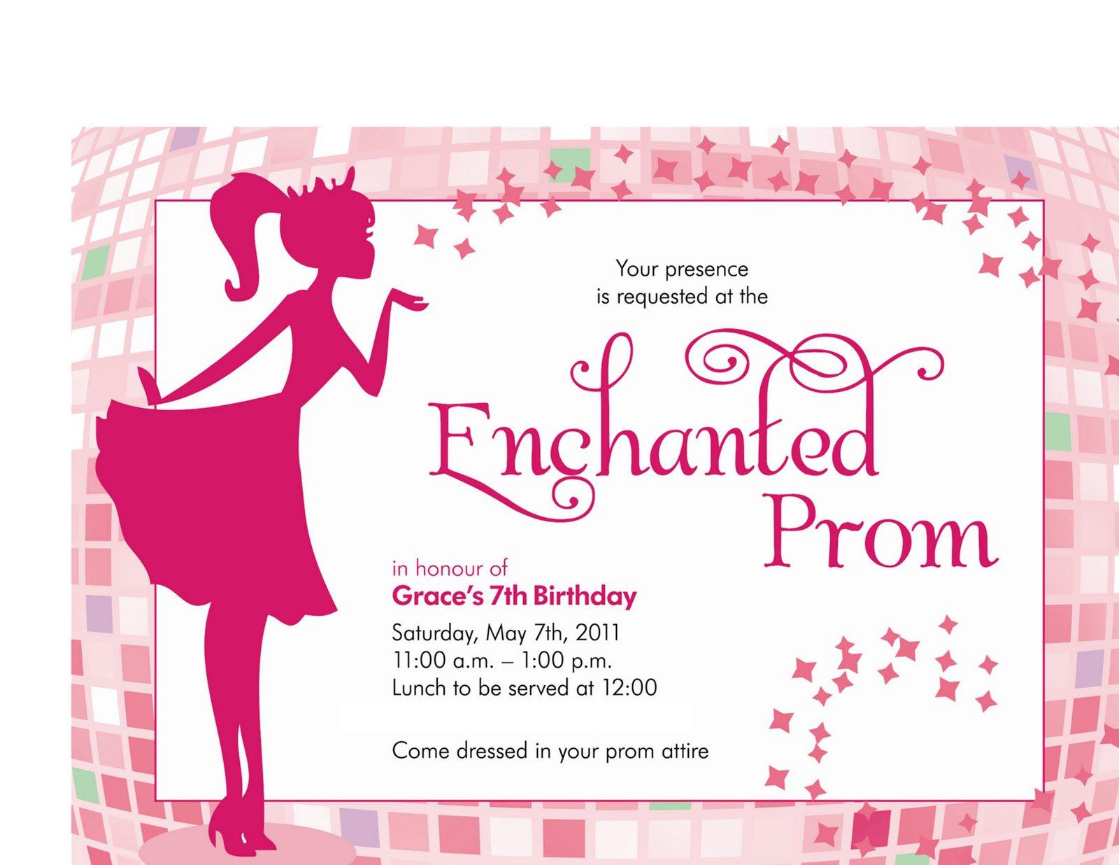 Prom Night Invitations