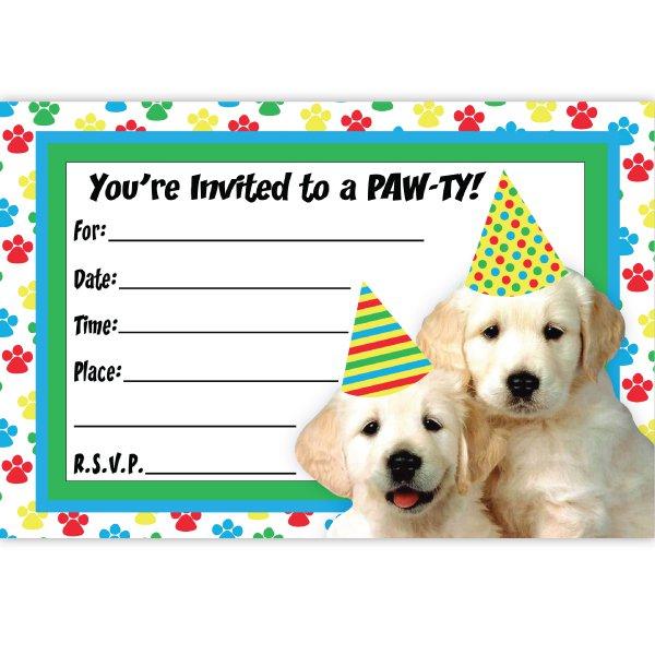 Puppy Birthday Invitations Free