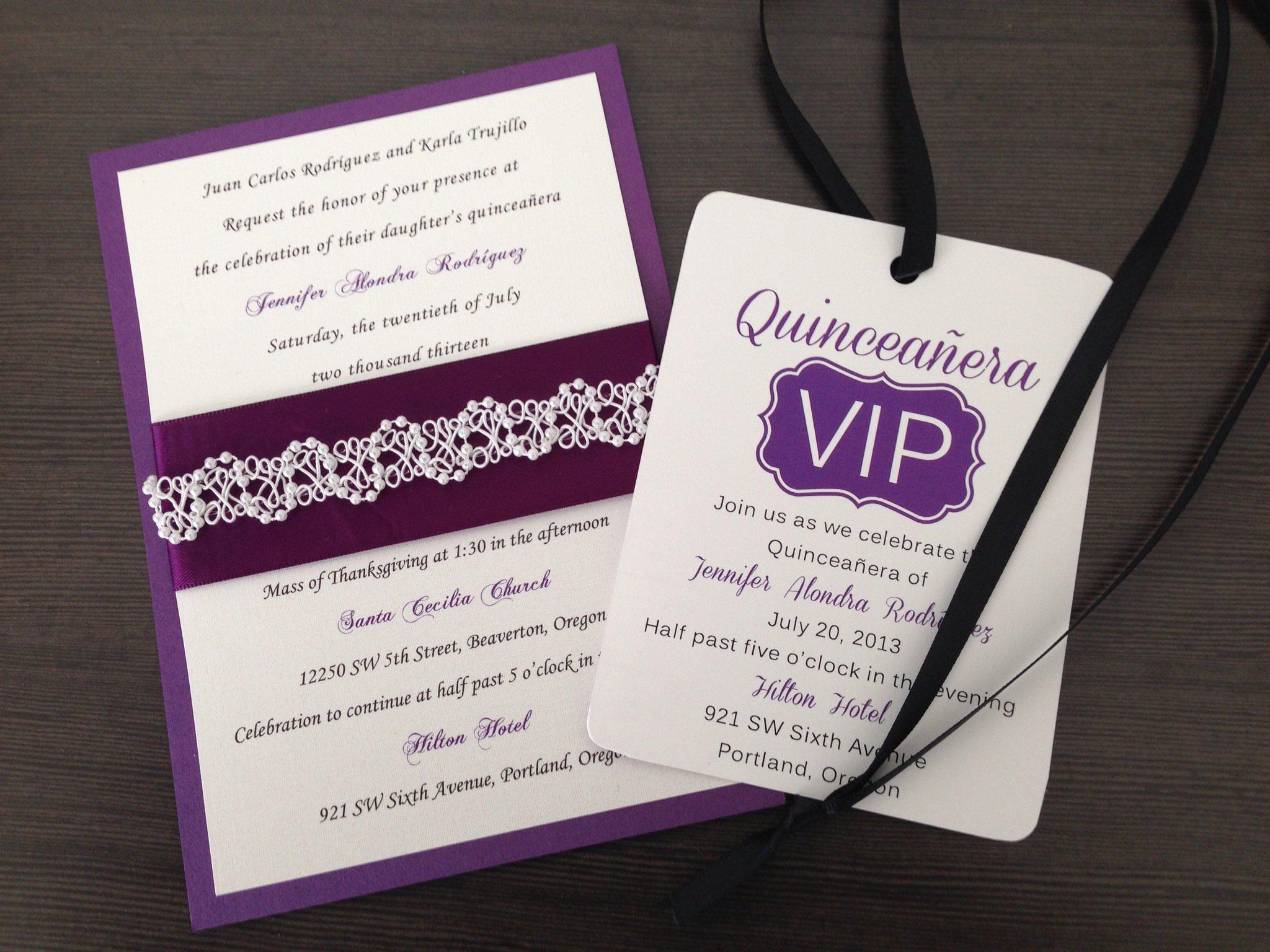 Quince Invitations Ideas
