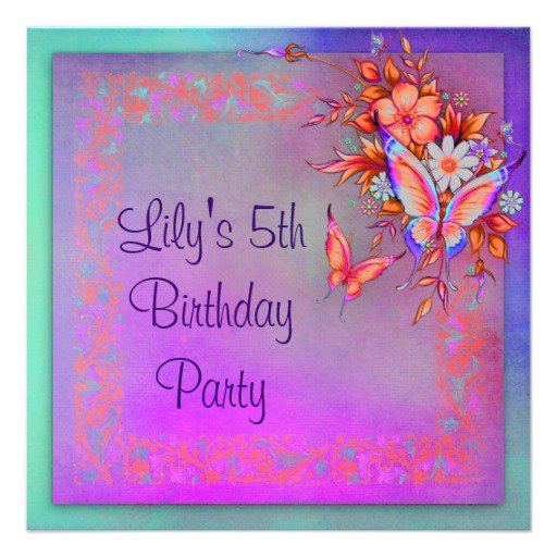 Rainbow Party Invitations For Girls