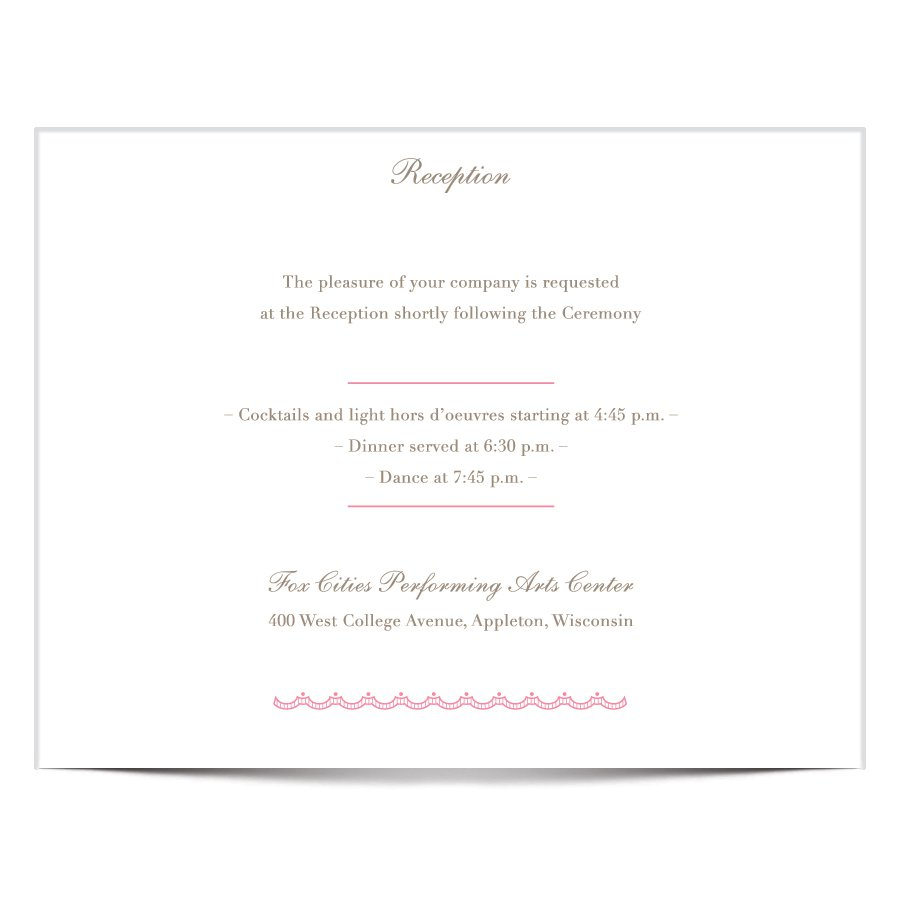 Reception Only Invitation Wording After Destination Wedding