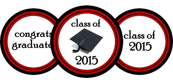 Red And White Chalkboard Graduation