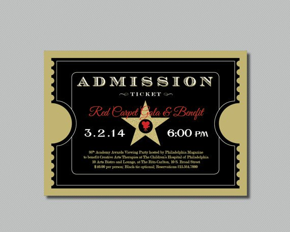 Red Carpet Gala Invitations