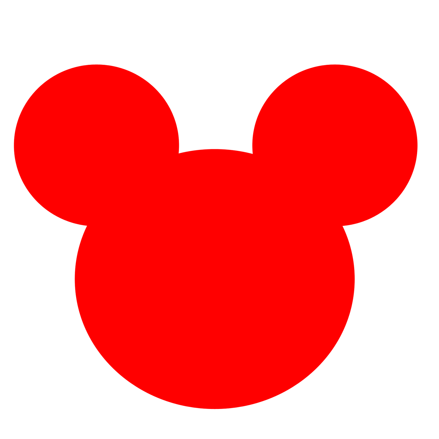 Red Mickey Mouse Head Logo