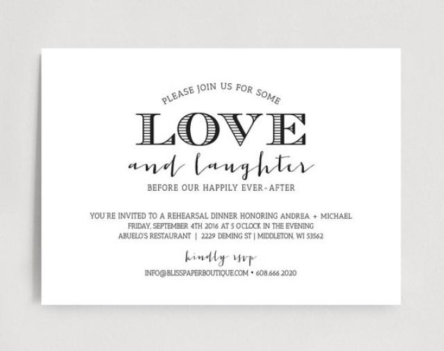 Rehearsal Dinner Invitation Template Download