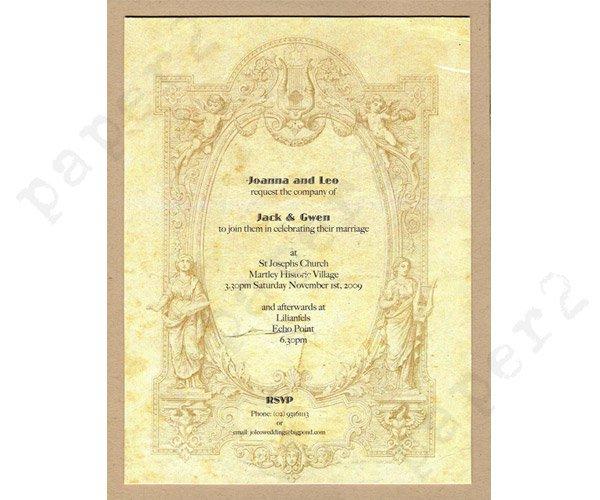 Renaissance Paper For Invitations