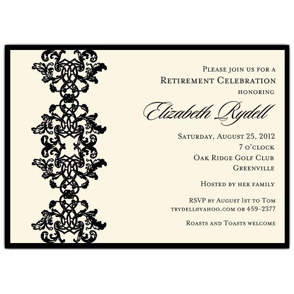 Retirement Invitations Free To Print