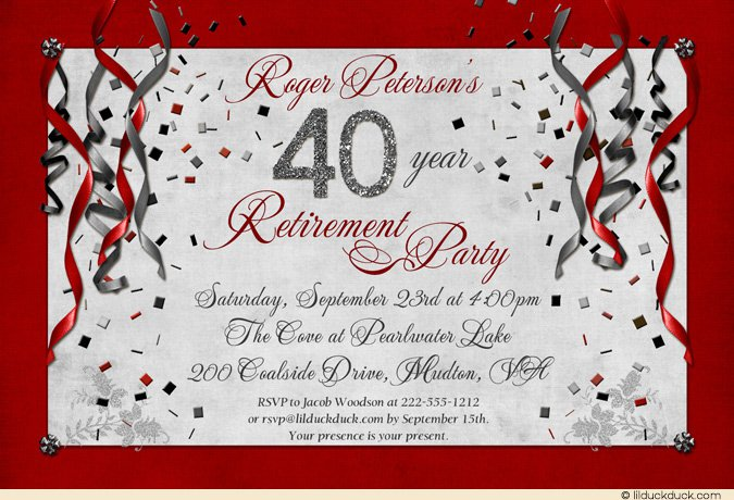 Retirement Party Invitation Wording Ideas