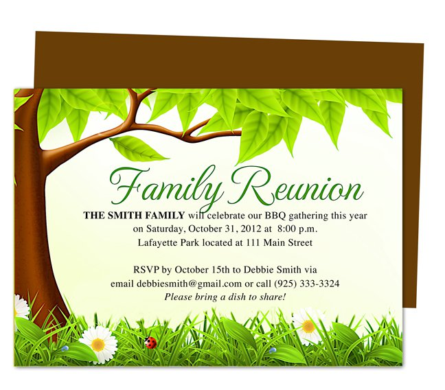 Reunion Party Invitation Cards