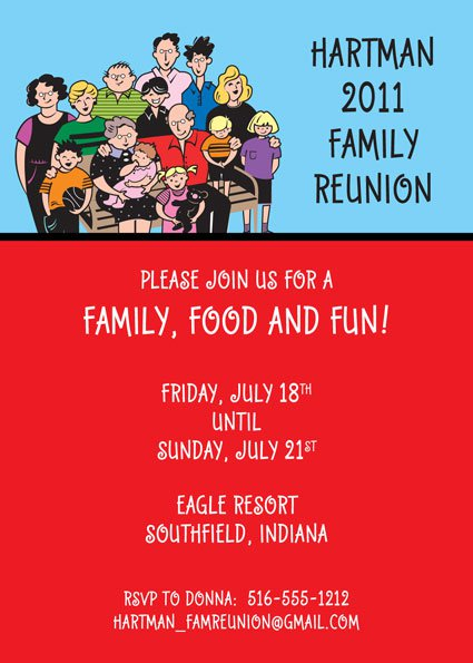 Reunion Party Invitations