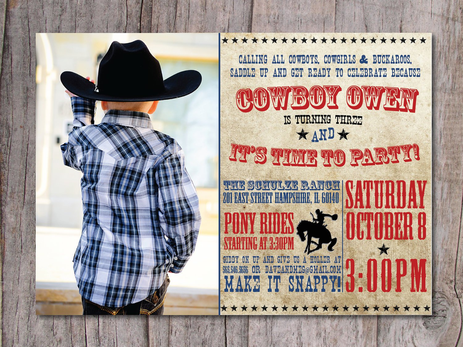 Rodeo Party Invitation Wording