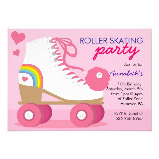 Roller Skate Invitation Templates Free