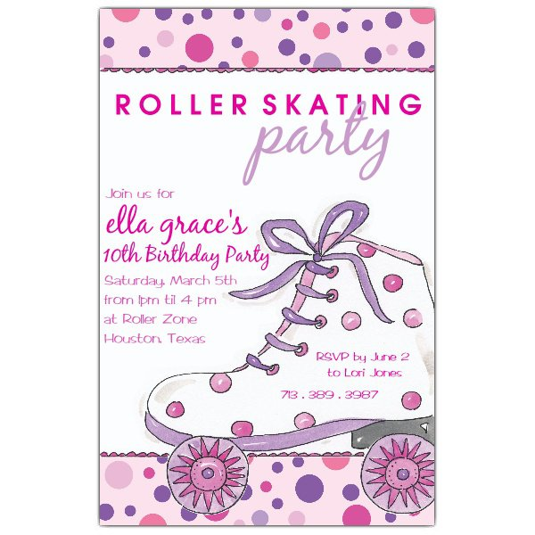 Roller Skate Invitations Printable Free