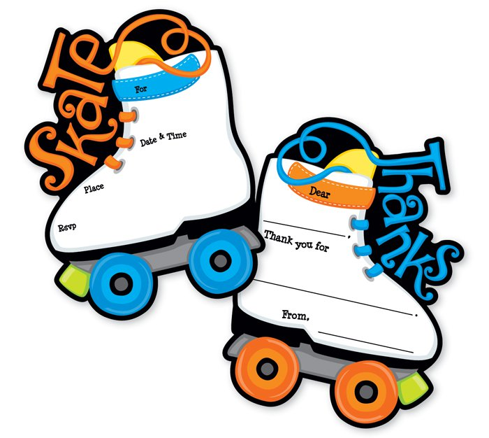 Roller Skates Invitations Printable