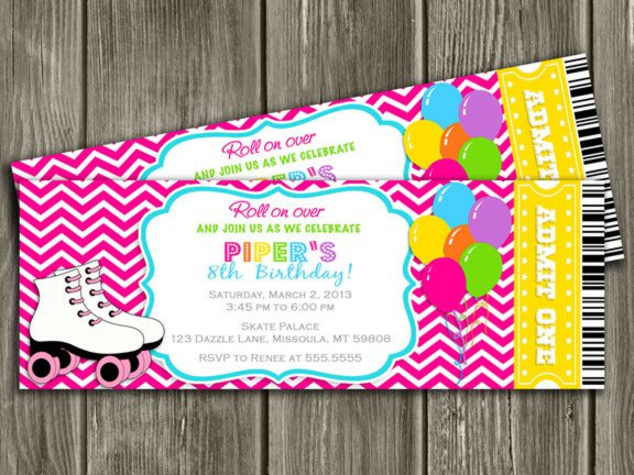Roller Skating Printable Invitations Free